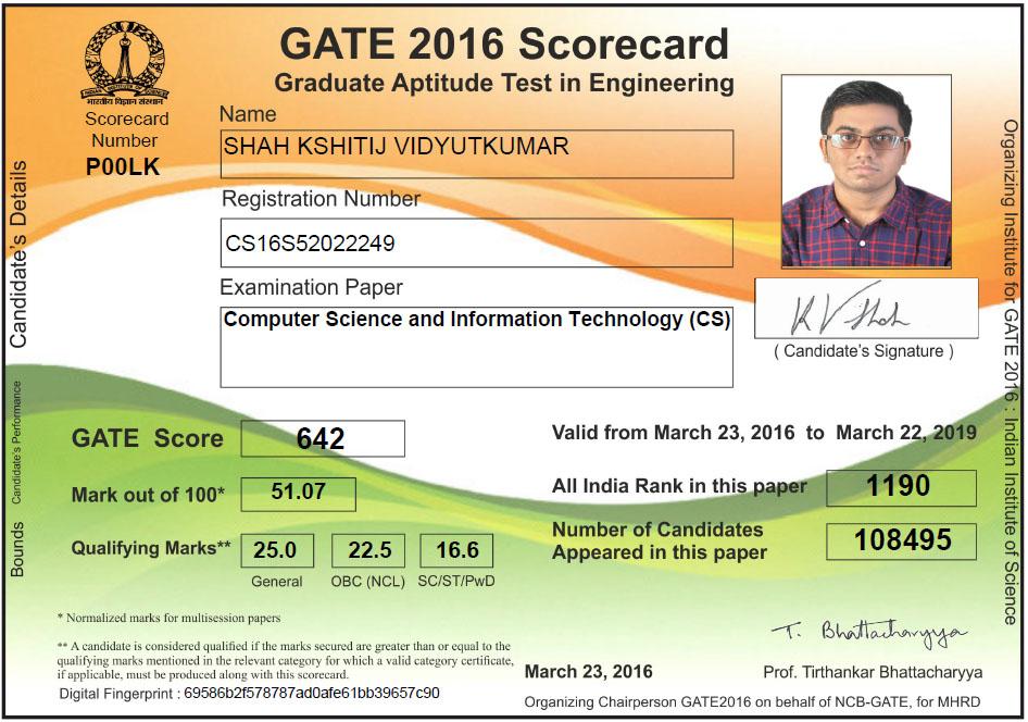 gate 2016 scorecard